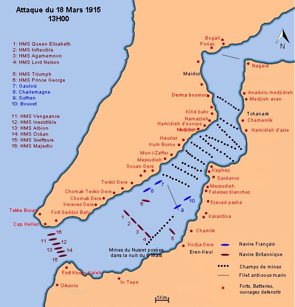 Dardanelles plan des ops 13h00