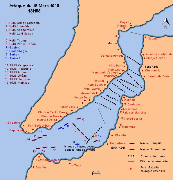 Dardanelles plan des ops 13h58