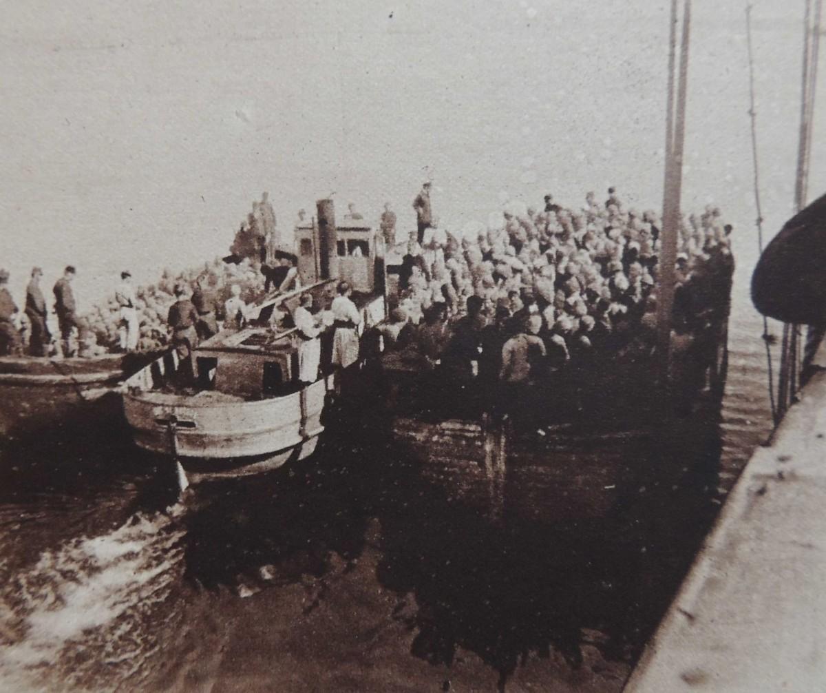 Débarquement des troupes françaises près de Sedd-ul-Bahr