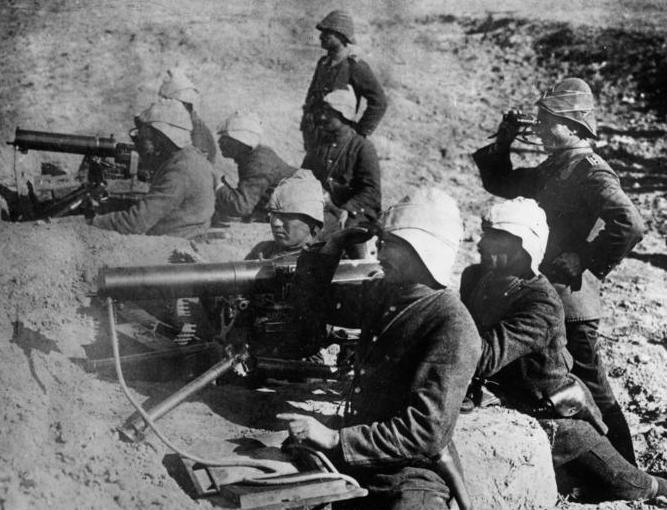 Mitrailleuses turques intactes malgré le bombardement